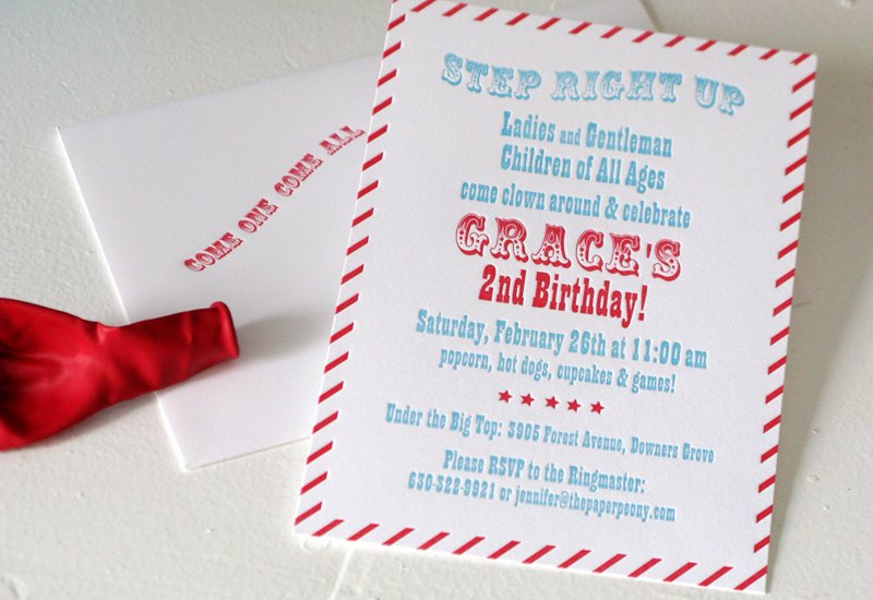 Carnival Birthday Party Invitations Beautiful Red Aqua Carnival Birthday Party Invitations for Grace