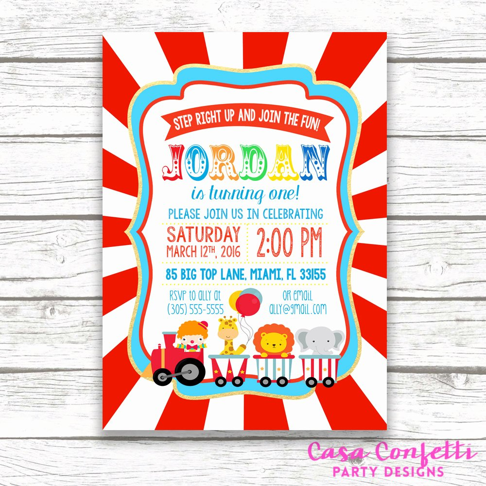 Carnival Birthday Party Invitations Elegant Circus Birthday Invitation Circus Invitation Circus theme Invitation Carnival Birthday