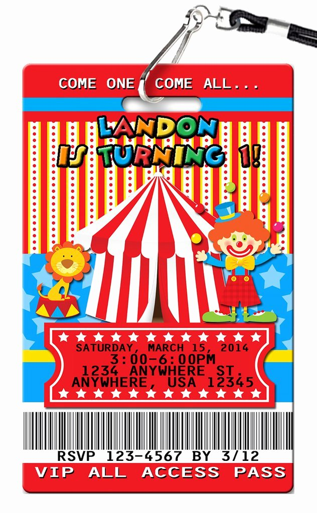 Carnival Birthday Party Invitations New Circus Carnival Birthday Invitations Pvc Invites Vip Birthday Invitations