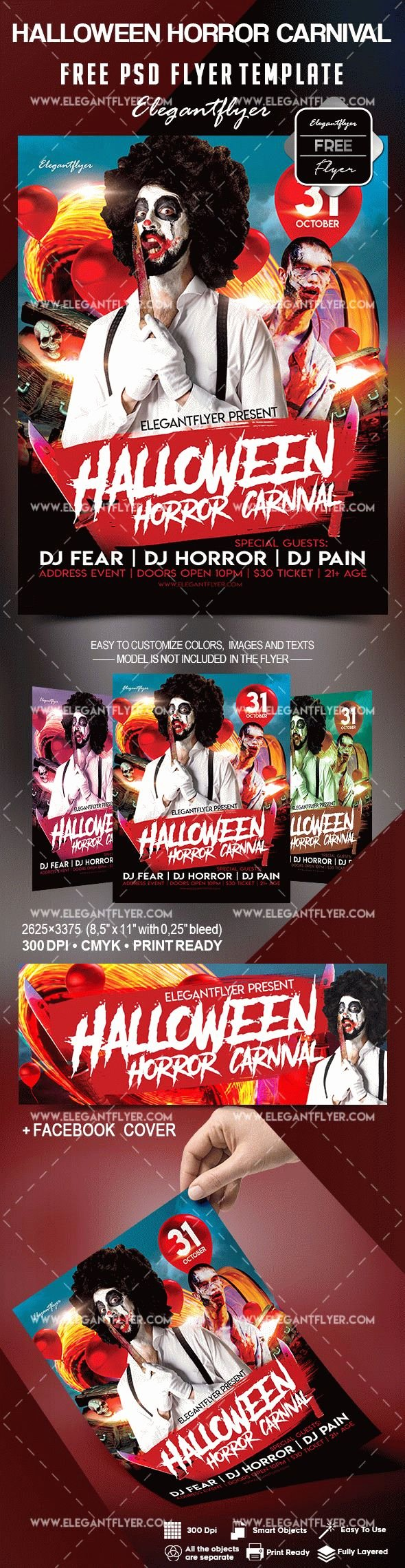 Carnival Flyer Template Free Awesome Free Halloween Horror Carnival Flyer Template – by Elegantflyer