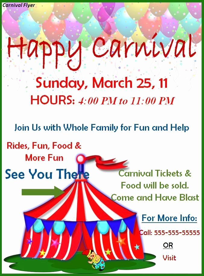 Carnival Flyer Template Free Beautiful Carnival Border Templates