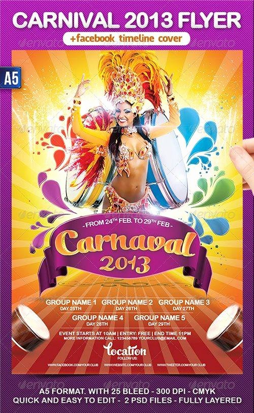 Carnival Flyer Template Free Beautiful top 10 Best Mardi Gras Psd Flyer Templates for Shop