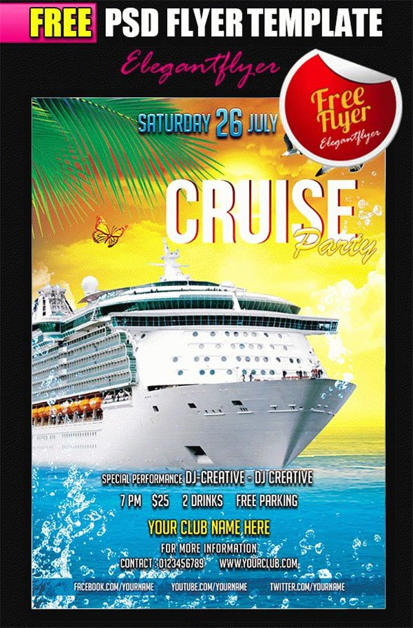 Carnival Flyer Template Free Best Of 23 Cruise Flyer Templates Free Psd Vector Eps Png Ai Downloads