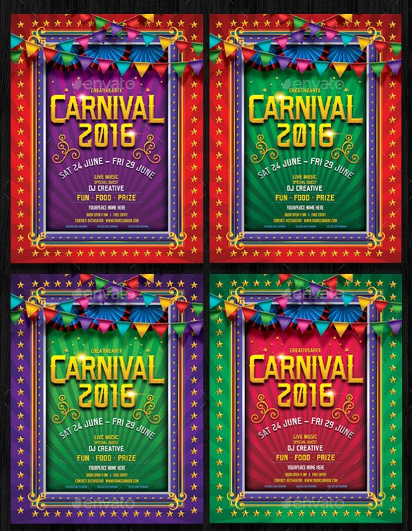 Carnival Flyer Template Free Best Of Carnival Flyer Template 58 Free Word Psd Ai Vector Eps format Download