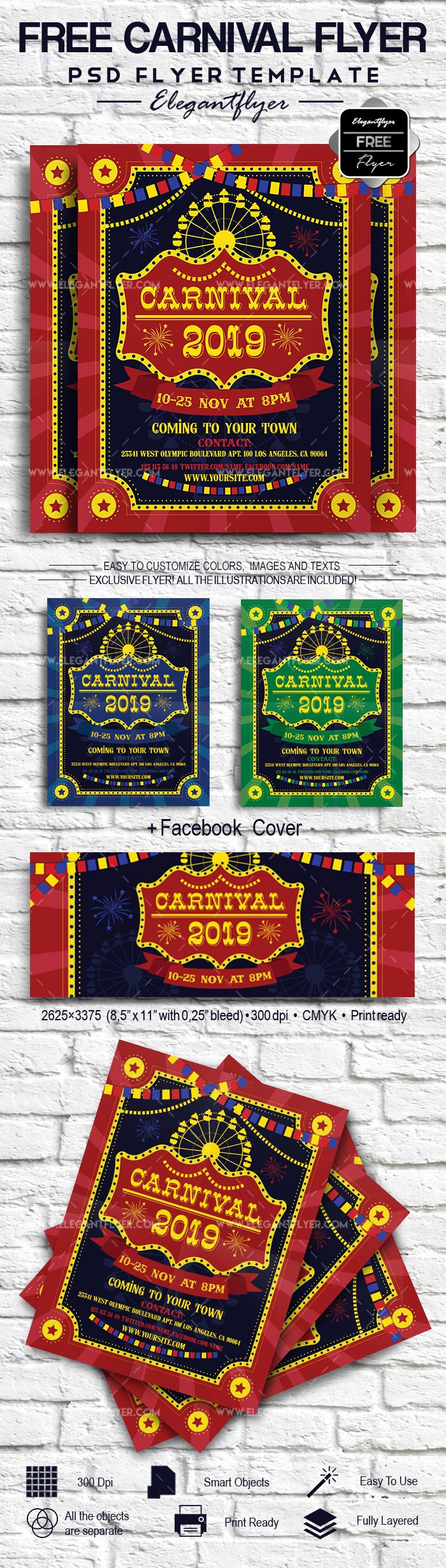 Carnival Flyer Template Free Elegant Carnival Free Flyer Template – by Elegantflyer