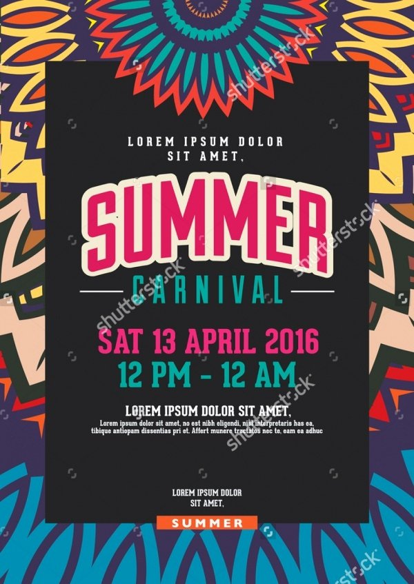 Carnival Flyer Template Free Fresh 21 Carnival Flyers Psd Vector Eps Jpg Download