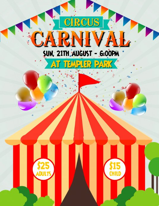Carnival Flyer Template Free Fresh Circus Carnival Flyer Template