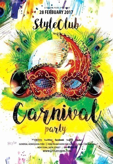 Carnival Flyer Template Free Inspirational Carnival Party Psd Flyer Template Styleflyers