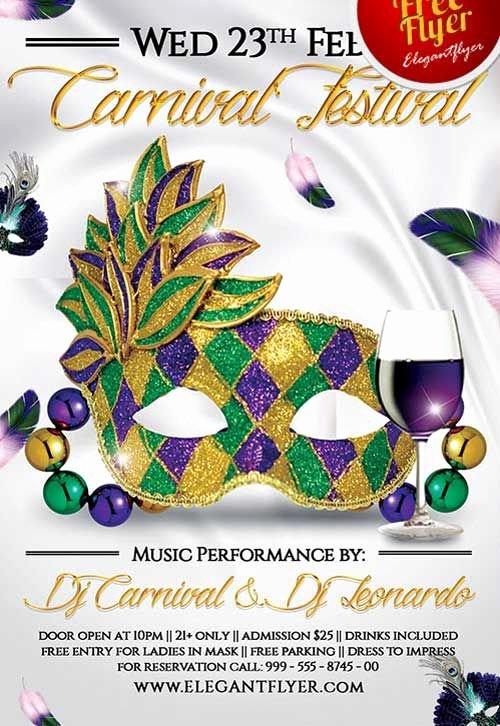 Carnival Flyer Template Free Inspirational Free Mardi Gras Carnival Festival Psd Flyer Template Mardi Gras