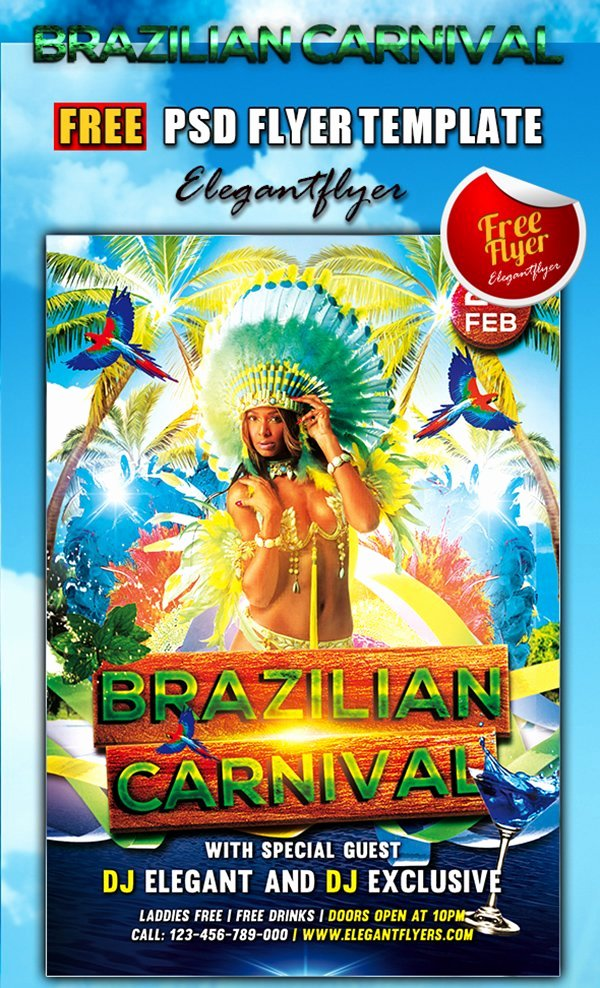 Carnival Flyer Template Free Lovely 31 Free Psd Party & Club Flyer Templates March 2015 Edition