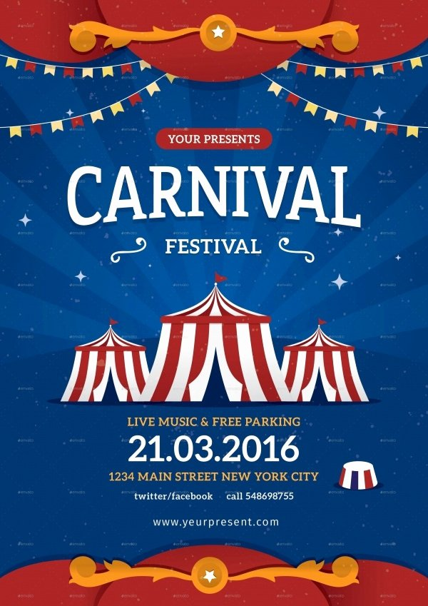Carnival Flyer Template Free Lovely 36 Elegant Festival Flyer Design Templates Ai Word Psd Eps