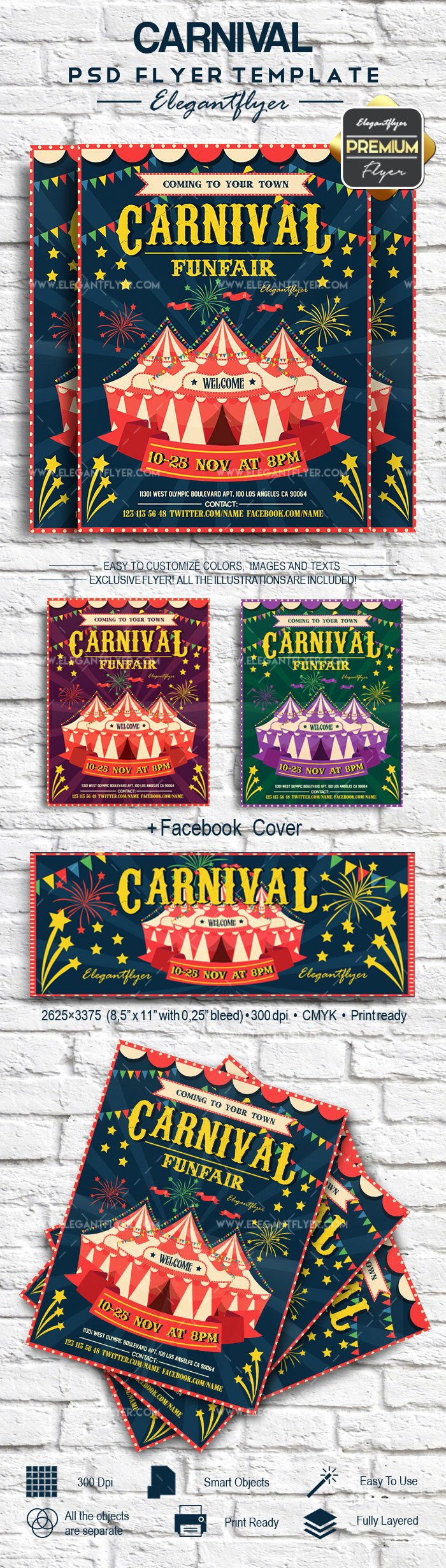 Carnival Flyer Template Free Lovely Carnival – Flyer Psd Template – by Elegantflyer