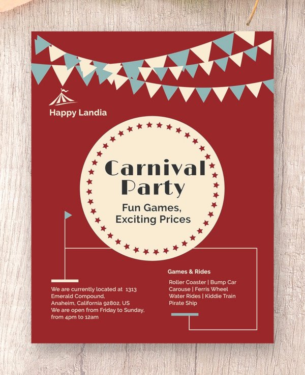 Carnival Flyer Template Free Luxury 34 Modern Carnival Flyer Templates & Creatives Psd Ai Word Eps