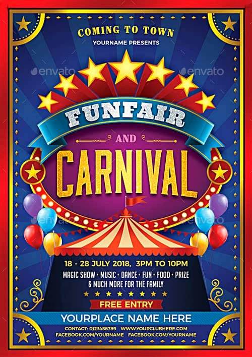 Carnival Flyer Template Free Luxury top 30 Best Carnival Flyer Templates 2017 Download Psd Flyer for Shop