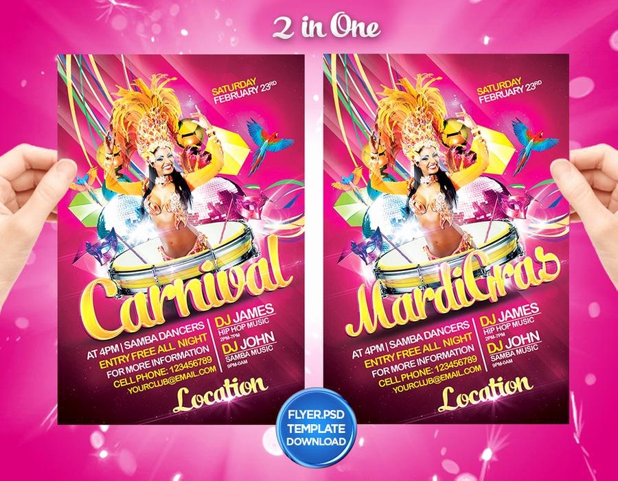 Carnival Flyer Template Free New Mardi Gras Carnival Flyer Template by Grandelelo by Grandelelo On Deviantart