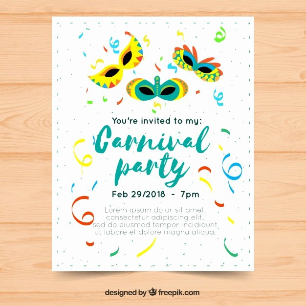 Carnival Flyer Template Free Unique Flat Carnival Party Flyer Poster Template Vector
