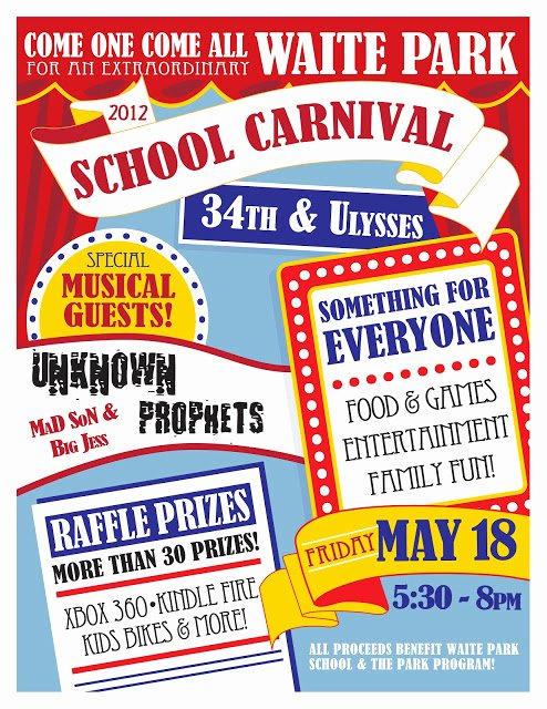 Carnival Flyer Template Free Unique Waite Park Pta Waite Park School Carnival Feat Unknown Prophets Fri May 18 5 30 8 Pm