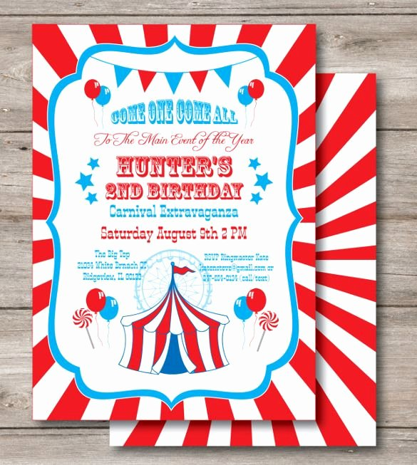 Carnival Invitation Template Free Best Of 25 Best Ideas About Carnival Birthday Invitations On Pinterest