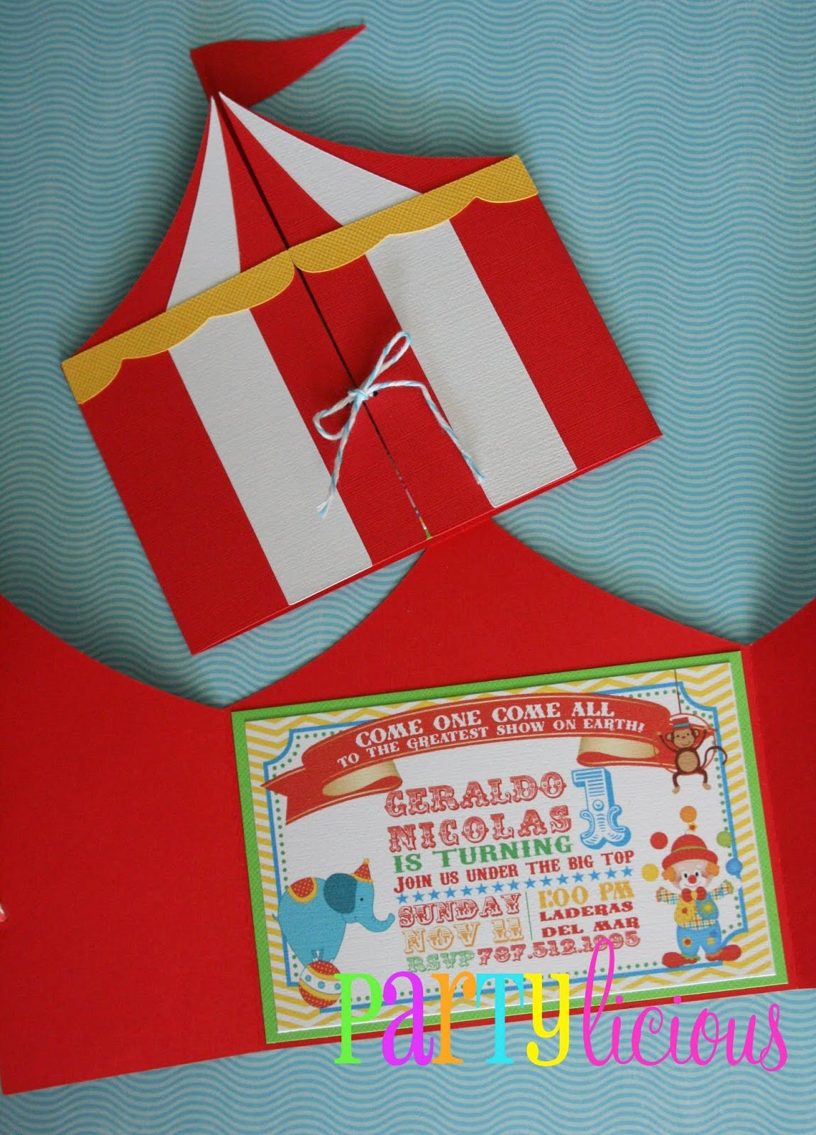 Carnival themed Birthday Invitations Inspirational Partylicious events Pr Circus Spectacular Birthday