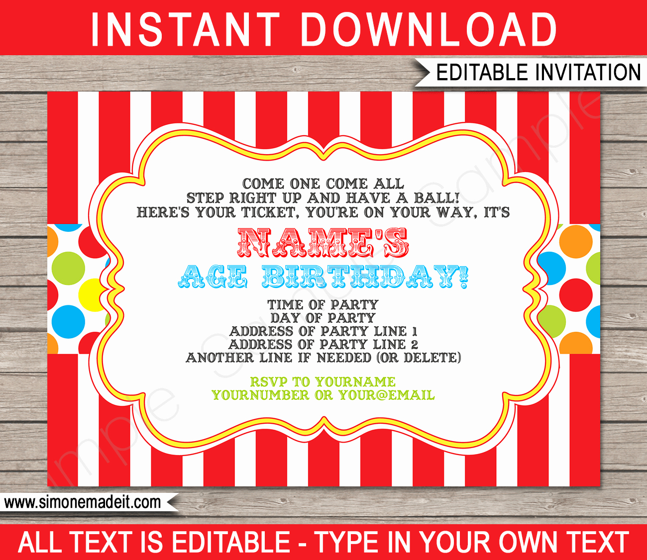 Carnival Ticket Invitation Template Free Beautiful Carnival Invitation Template