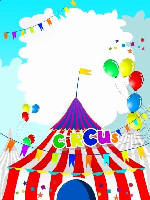 Carnival Ticket Invitation Template Free Elegant Carnival Birthday Party