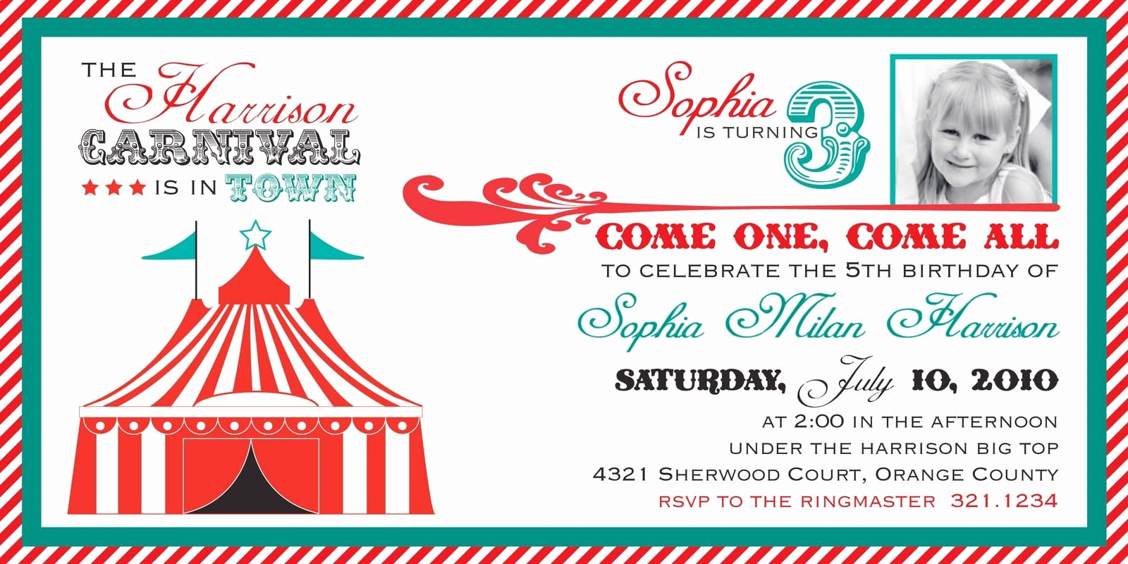 Carnival Ticket Invitation Template Free Elegant Free Ticket Invitation Template