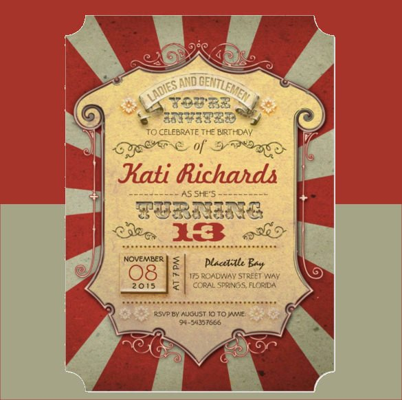 Carnival Ticket Invitation Template Free Fresh 37 Carnival Birthday Invitation Templates Free Sample Example format Download