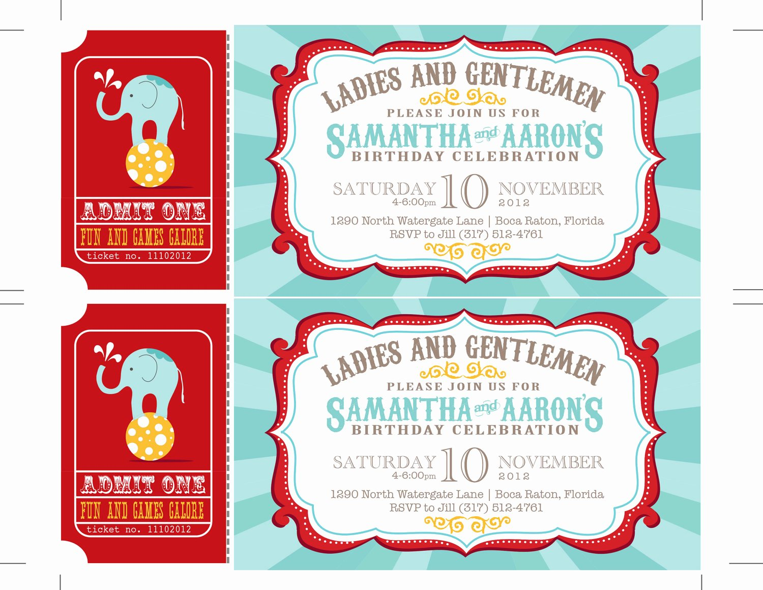 Carnival Ticket Invitation Template Free Fresh Reserved Carnival Invitations Circus Invitations Ticket