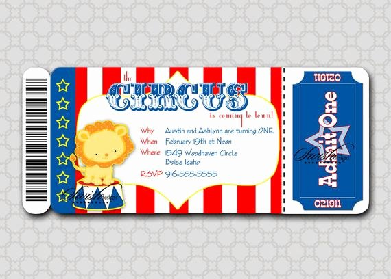 Carnival Ticket Invitation Template Free New Circus Birthday Invitation Boarding Pass Invitation Ticket