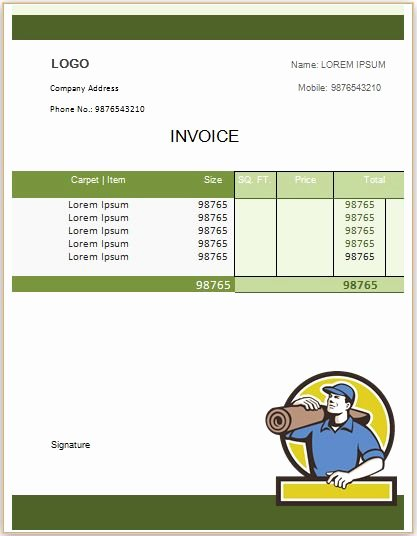 Carpet Cleaning Invoice Template Awesome 22 Best Carpet Cleaning Invoice Template Images On Pinterest