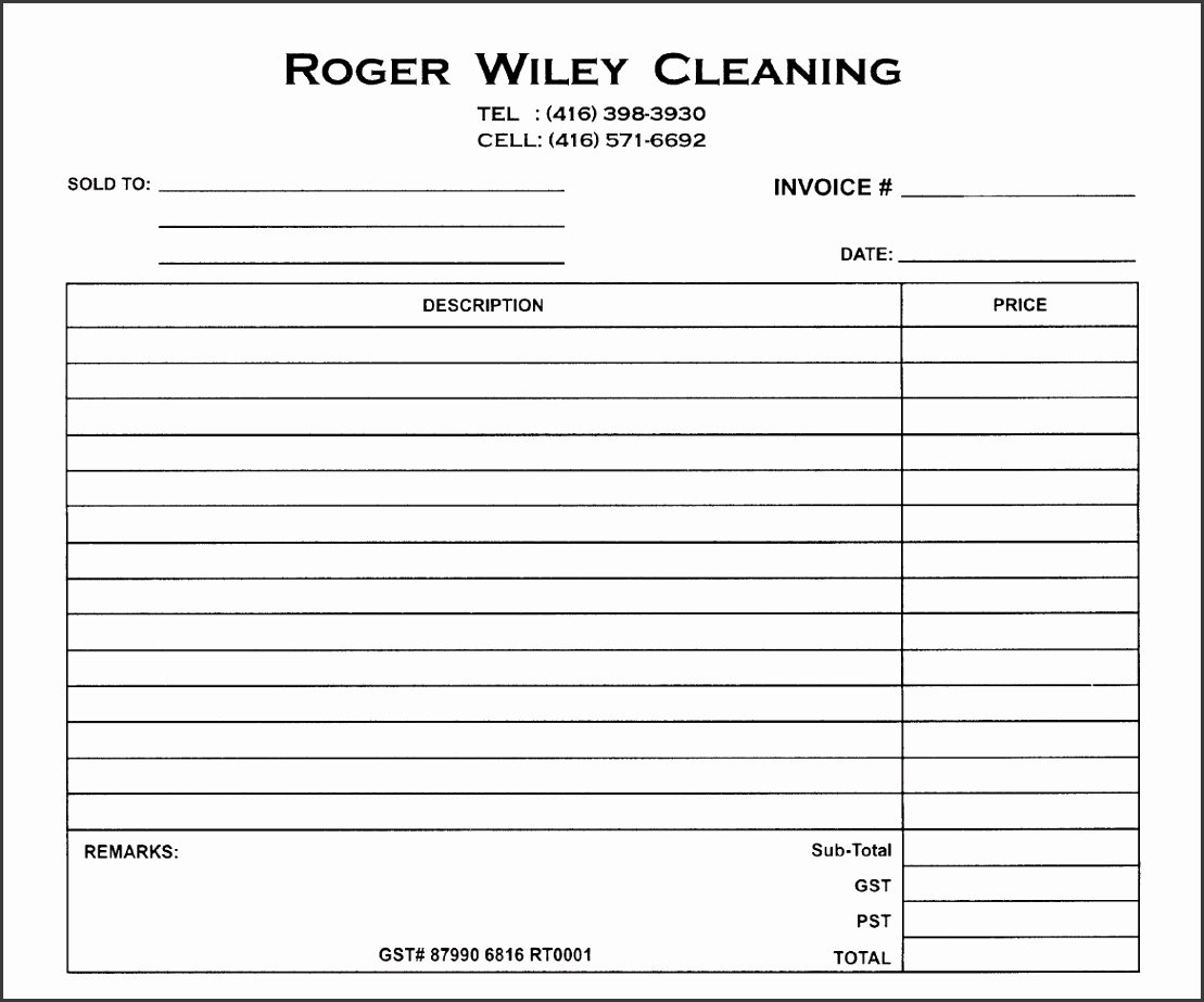 Carpet Cleaning Invoice Template Elegant 6 Carpet Cleaning Invoice Template Sampletemplatess Sampletemplatess