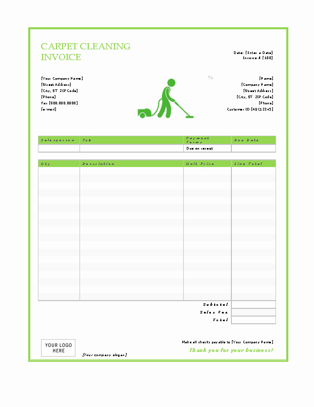 Carpet Cleaning Invoice Template Inspirational Carpet Cleaning Invoice Template Pdfsimpli