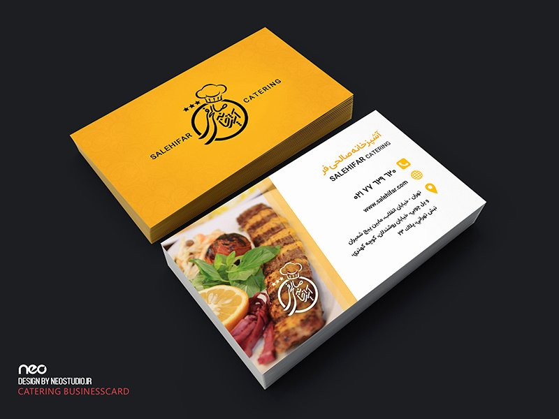 Catering Business Card Ideas Beautiful Salehifar Catering Businesscard by Neostudio On Dribbble