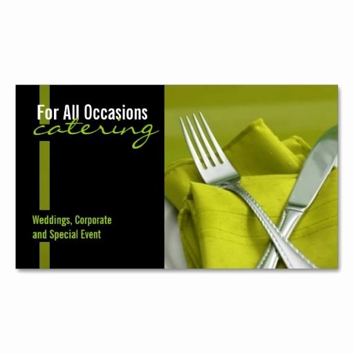 Catering Business Card Ideas Elegant Catering Food Business Card Zazzle Chef Business Cards