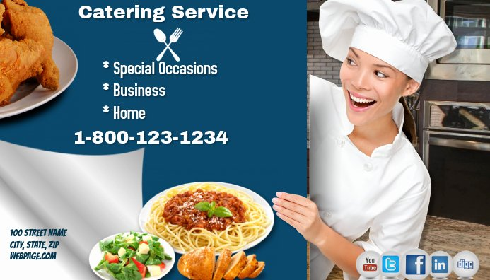 Catering Business Card Ideas Fresh Catering Service Business Card Template