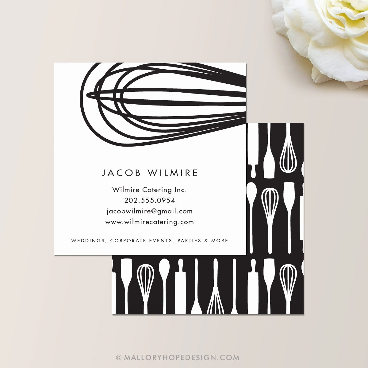 Catering Business Card Ideas Luxury Baker or Catering Chef Square Business Card Calling Card