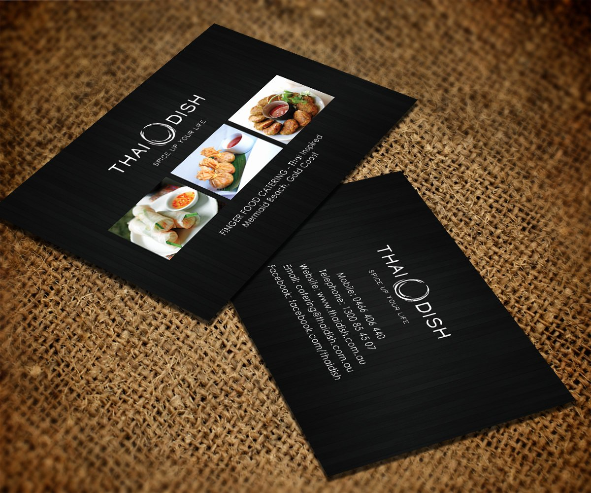 Catering Business Card Ideas Luxury Catering Business Card Design for Thai Dish by Smart Designs