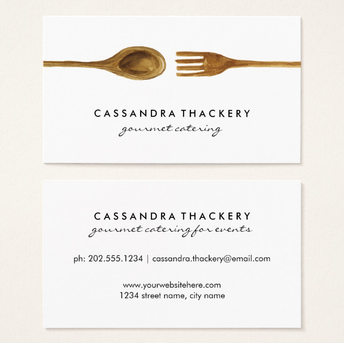 Catering Business Card Ideas Unique 22 Catering Business Card Templates Ai Word Psd