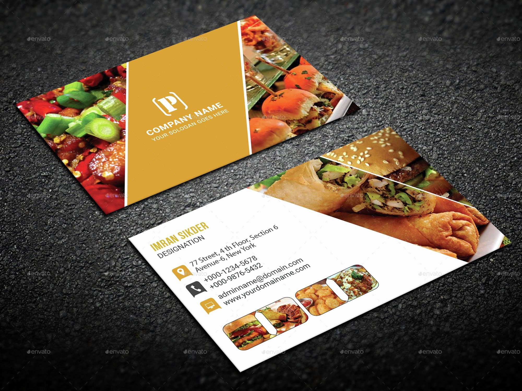 Catering Business Card Ideas Unique Restaurant Business Cards