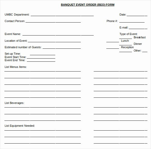 Catering order form Template Word Beautiful 13 event order Templates – Ms Excel Ms Word
