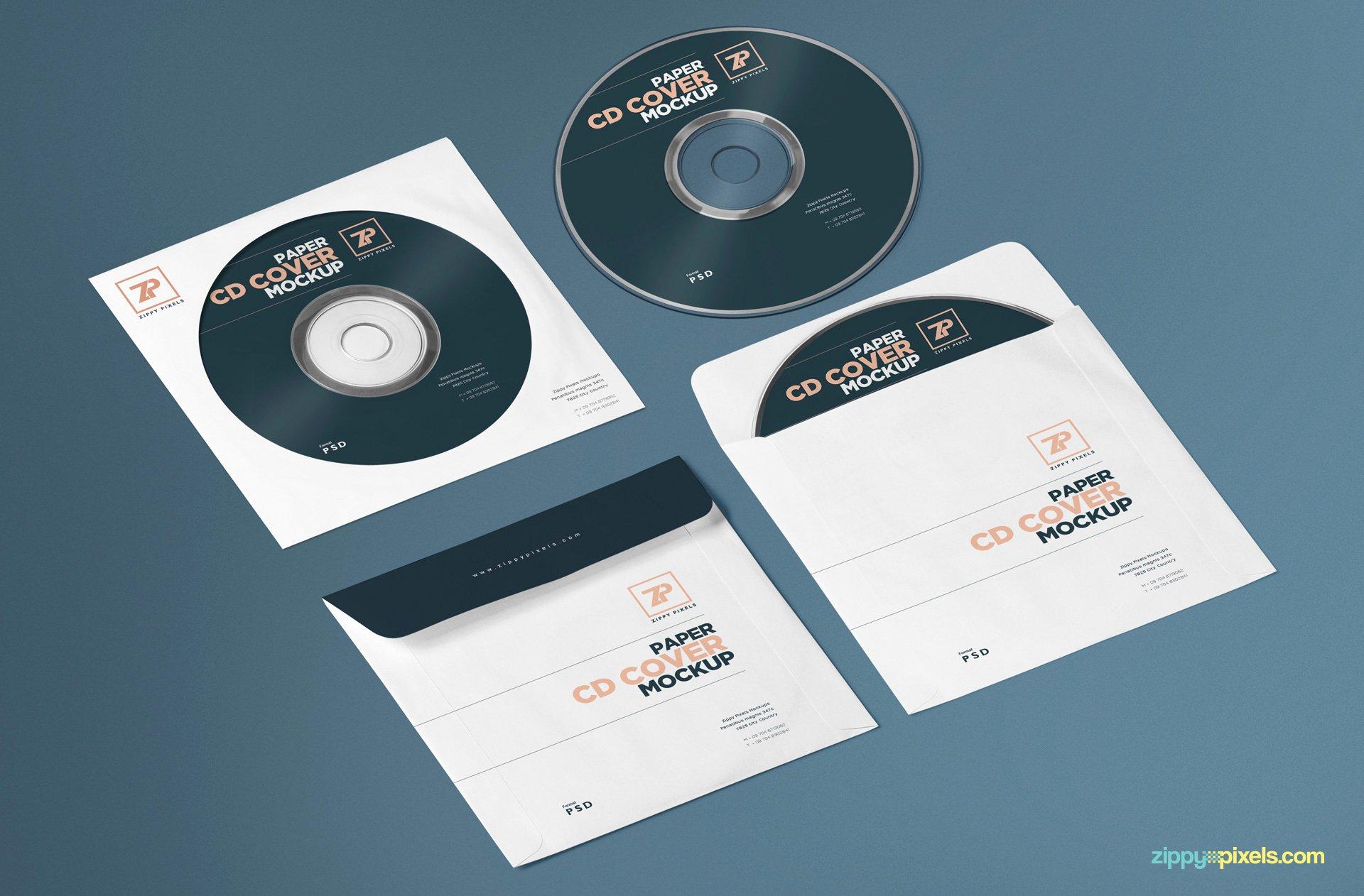 Cd Paper Sleeve Template Fresh Free Paper Cd Cover Mockup Cd Mockup Psd