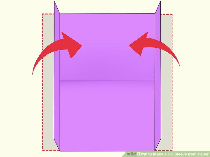 Cd Paper Sleeve Template Lovely How to Make A Cd Sleeve From Paper 13 Steps with