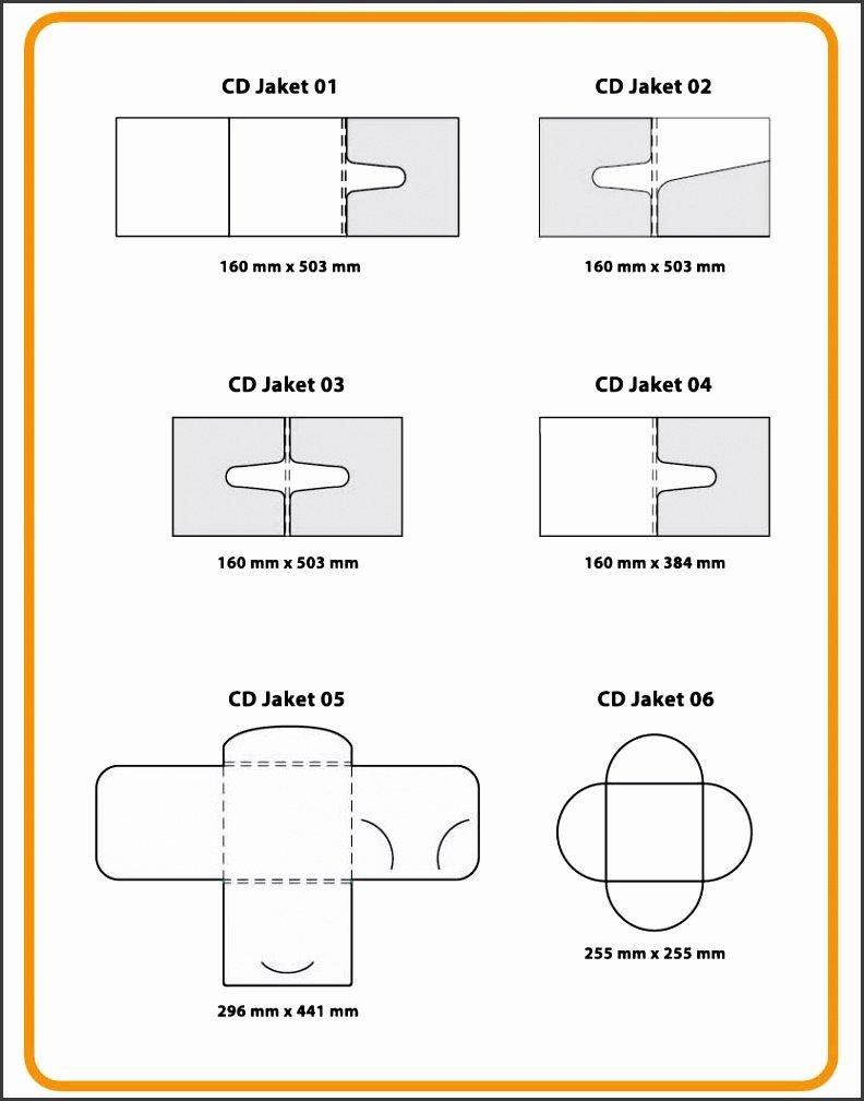 Cd Paper Sleeve Template Unique 7 Paper Cd Case Template Sampletemplatess Sampletemplatess