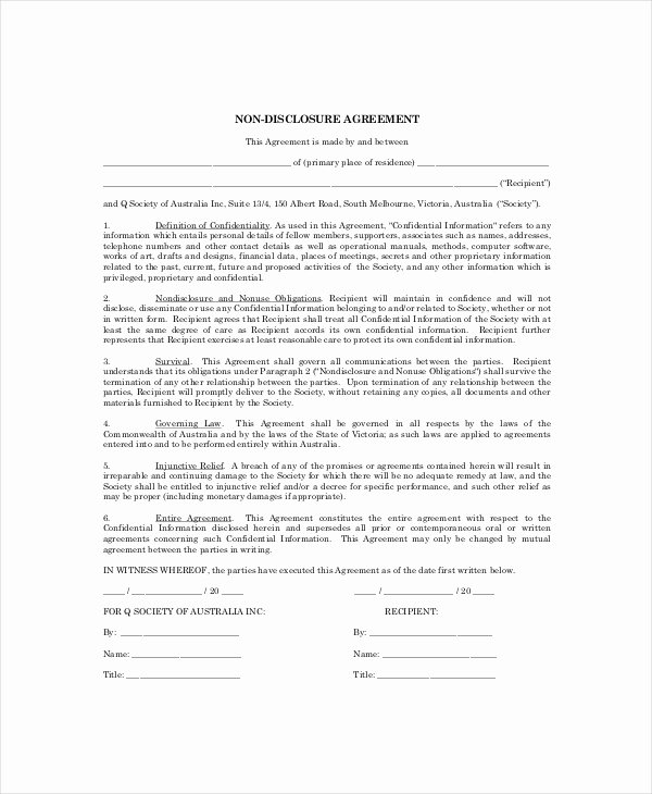 Celebrity Non Disclosure Agreement Unique 10 Personal Confidentiality Agreement Templates Doc Pdf