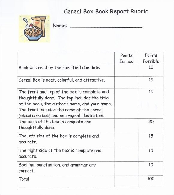 Cereal Box Book Report Template Fresh Instructions for A Cereal Box Book Report Websitereports991 Web Fc2