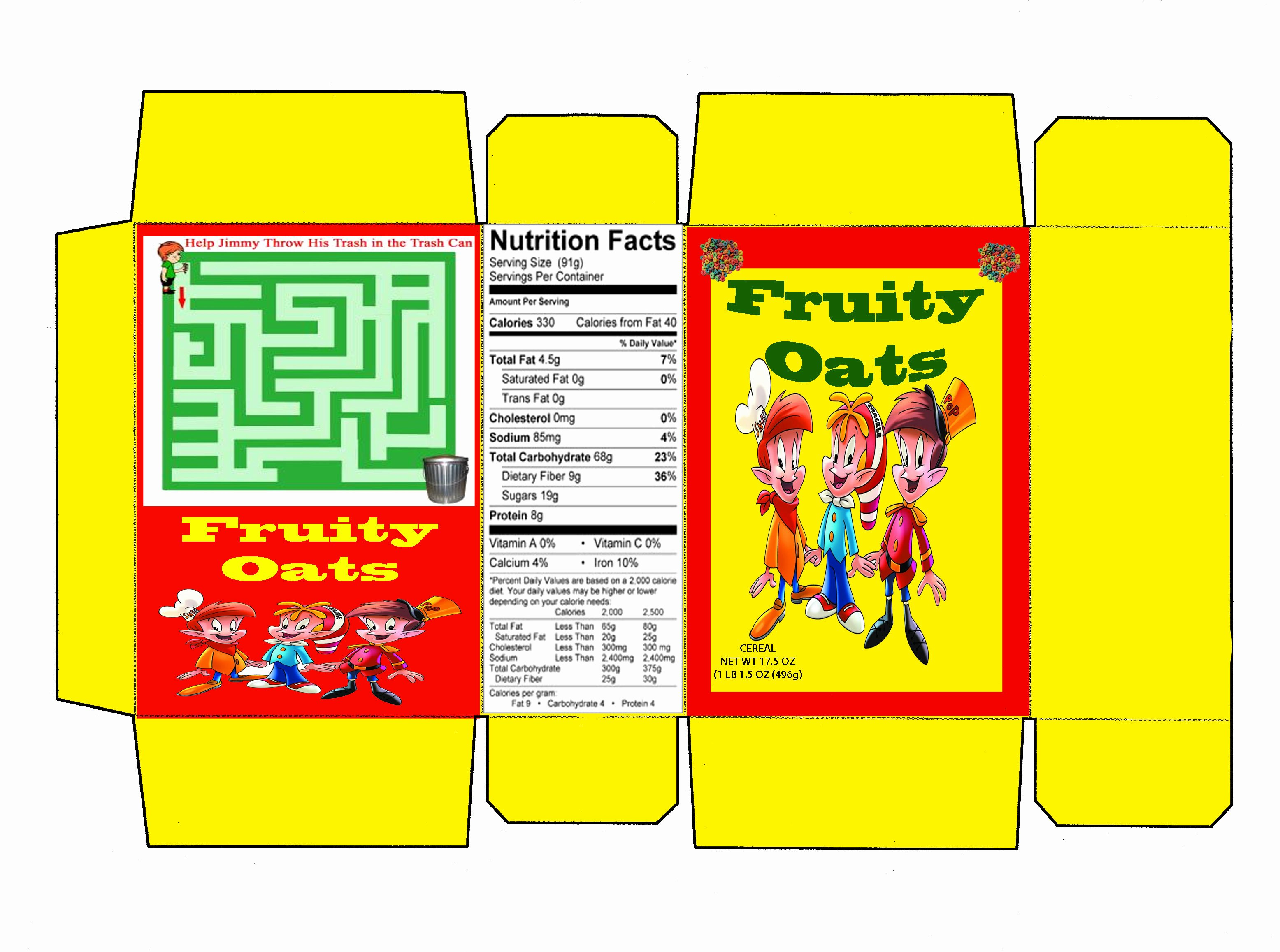 Cereal Box Design Template Awesome Cereal Box Template Illustrator