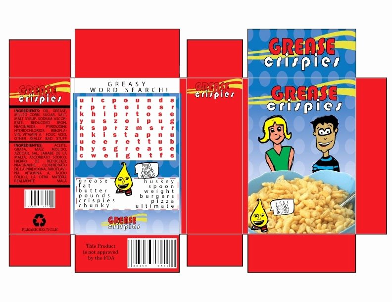Cereal Box Design Template Fresh Cereal Box Template