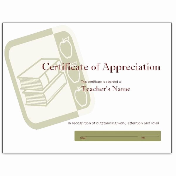Certificate Of Appreciation for Teachers Beautiful Free Teacher Appreciation Certificates Download Word and Publisher Versions or Learn to Make