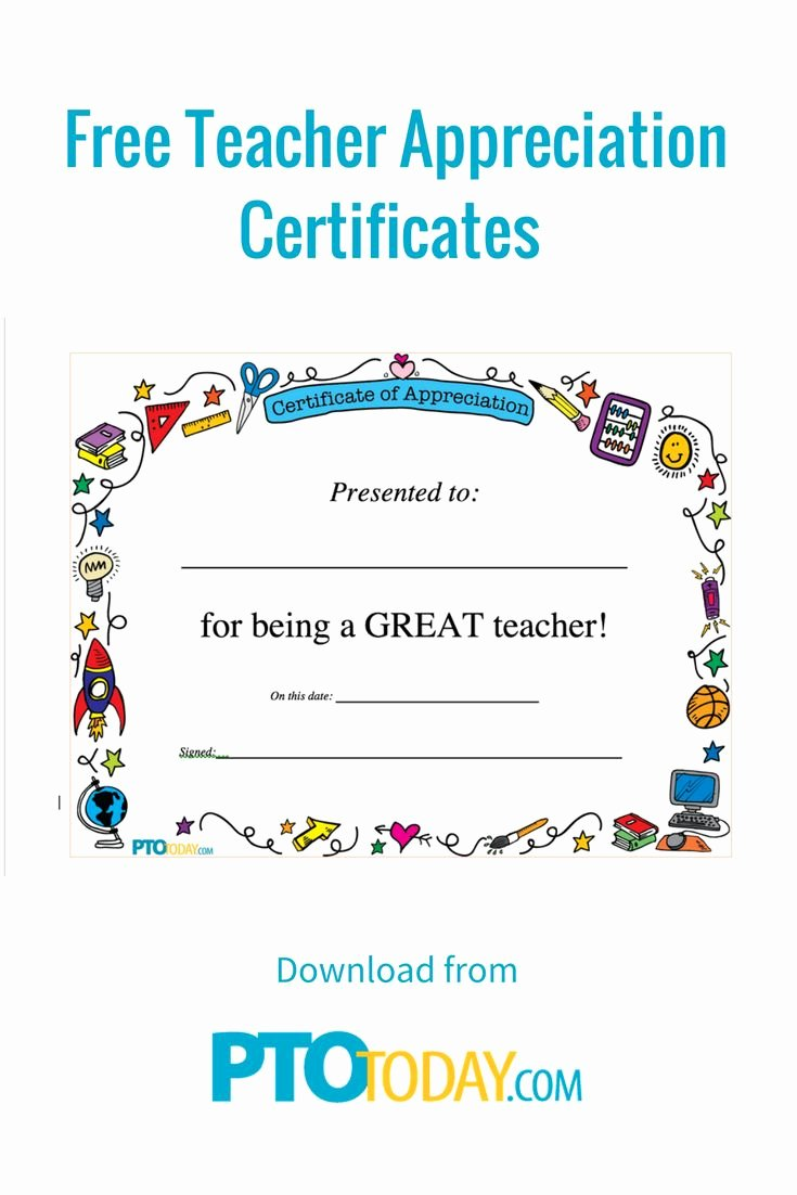Certificate Of Appreciation for Teachers Best Of 25 Unique Teacher Appreciation Letter Ideas On Pinterest