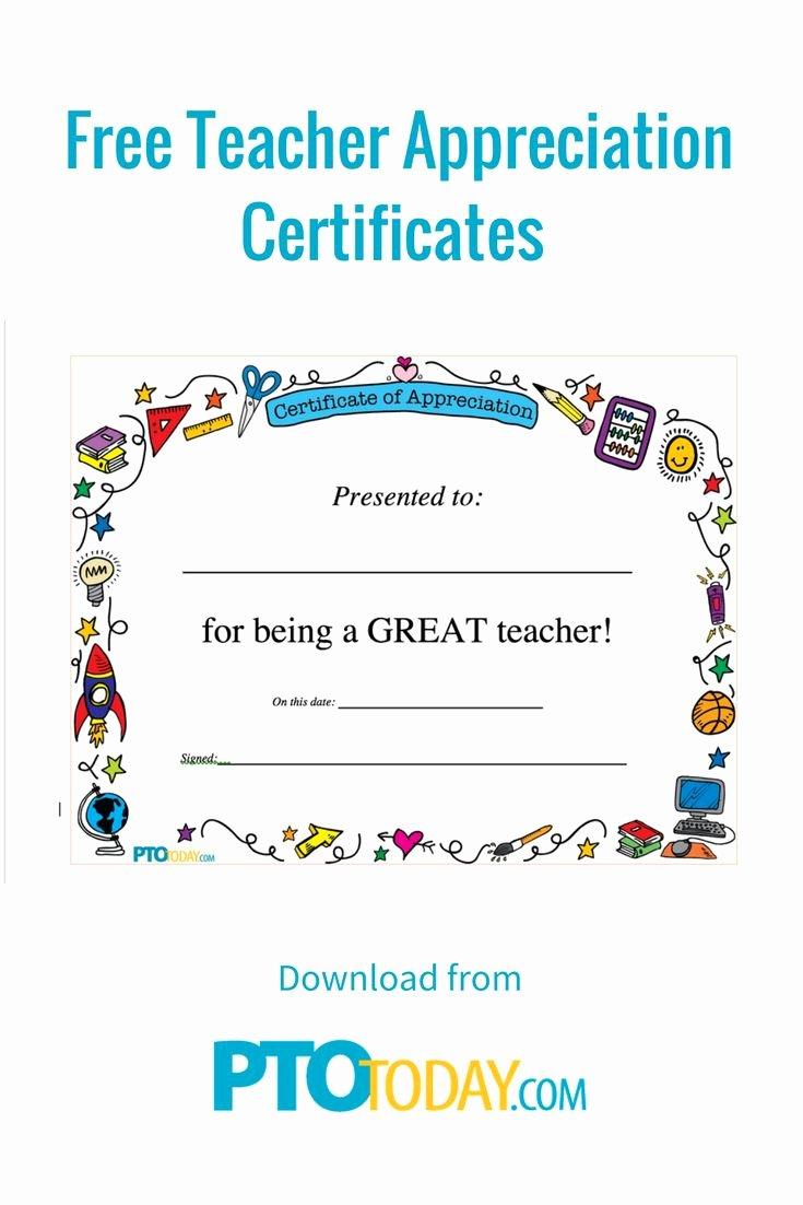 Certificate Of Appreciation for Teachers Best Of 25 Unique Teacher Appreciation Letter Ideas On Pinterest